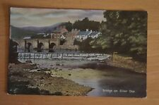 Rare Vintage Postcard BRIDGE ON THE RIVER DEE Art Card Weekly Tale Teller