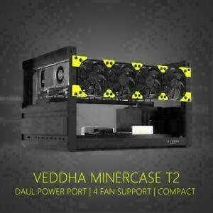 Veddha 6 GPU Open Air Mining Rig Frame T2 T3 Stackable Miner Case LTC ETH ETC