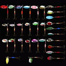 Lot 30pcs Kinds of Fishing Lures Crankbaits Hooks Spinner Baits Assorted Tackle