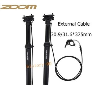 1*Bike Dropper Adjustable Seat Post 100mm Travel External Routing 30.9/31.6*375