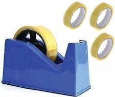 More details for desktop heavy duty heavy weight sellotape cellotape tape dispenser +3 rolls tape