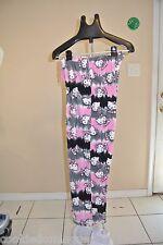 "Hello Kitty Fleece Pajamas Drawstring Pants Warm Size M Waist 28""-34"" Stretches"
