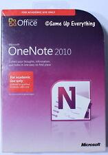 Microsoft OneNote 2010 Academic Edition SKU S26-04207 *NEW*