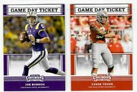 2020 Panini Contenders Draft Picks Football GAME DAY TICKETS RC - You Pick!