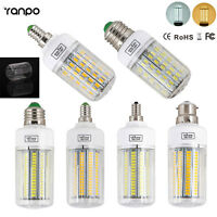 E27 E14 E12 B22 Led Light Bulb 5730 SMD Chip Corn Lamp Incandescent 20-160W 110V