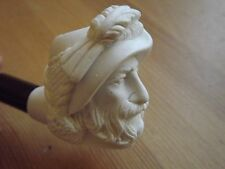 Turkish Mini Meerschaum Hand Carved Tobacco Pipe Cavalier