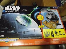 STAR WARS Rogue One Micro Machines Death Star Playset Plus Millenium Falcon set
