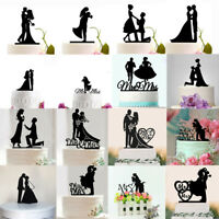 Cake Toppers Wedding Cupcake Personalised Decor Engagement Anniversary Party