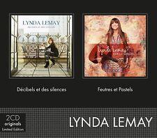 LYNDA LEMAY - DECIBELS ET DES SILENCES & FEUTRES & PASTELS  2 CD NEW+