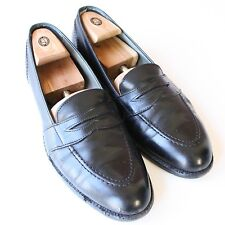 TRAD Alden Black Full Strap Penny Loafers Dress Shoes Made in USA 12 AA/B