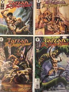 TARZAN THE SAVAGE HEART 4 X DARK HORSE COMICS ISSUE #1 #2 #3 #4Bagged & Boarded