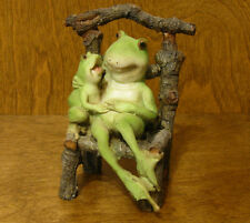Top Collection Enchanted Story Fairy Garden #4009 FROG/LITTLE FROG on CHAIR  NIB