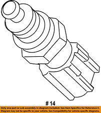 FORD OEM-Coolant Temperature Sensor 7M5Z12A648B