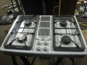 jenn air gas downdraft cooktop white very nice jgd8130adw