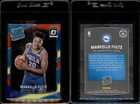 2017-18 PANINI DONRUSS OPTIC MARKELLE FULTZ #200 RED YELLOW ROOKIE CARD RC 76ERS