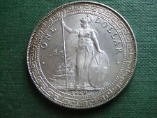 BRITHISH TRADE DOLLAR.   1929 SILVER DOLLAR.  RARE.    SUPERB CONDITION.