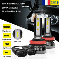 110W LED Voiture Ampoules Phare H8 H9 H11 Feux convesion Kit 20000LM blanc 6000K