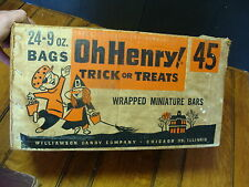 50's vintage HALLOWEEN--Oh Henry trick or treat empty case box
