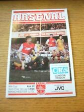 15/02/1983 Football League Cup Semi-Final: Arsenal v Manchester United  (Fold).
