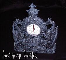 Heroic Fantasy : Horloge Pendule Dragon Gothique Medieval Goth