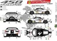 [FFSMC Productions] Decals 1/24 Ferrari F-458 Challenge 2012 de Jose Valera