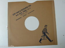 "78 rpm 10"" inch card gramophone record sleeve CITY SALE & EXCHANGE LTD FLEET ST"