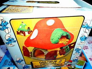 grande maison de  schtroumpfs smurf casa home puffo speciale schtroumpfette box