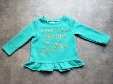 Carter's Baby Girl Long Sleeve Ruffle Shirt - 18 months