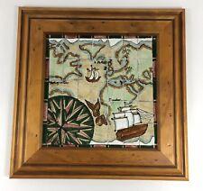 Cobridge Pottery Tiles 'Voyager' Tile By Alica Amison Framed 30cm