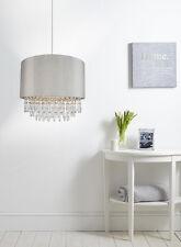 Cortina de tela de plata moderna Easyfit Tambor Colgante De Techo Araña De Luz Dormitorio