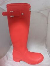 Hunter Original Tall Matt Boot Coral Rrp £ 100 Reino Unido 3 UE 36 BT01 21