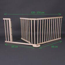 Barrera de Seguridad para Bebe Niños Mascotas 120 -170cm de Madera Ajuste Pared