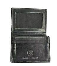 Smith & Canova Black Leather Business Card Holder 11cm X 7.5cm