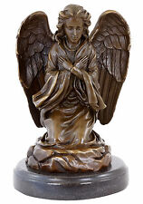 Jugendstil Bronzefigur - Betender Trauerengel - signiert Milo