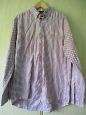 "mens GANT RED WHITE & BLUE COTTON CHECK SHIRT SIZE XL 43/44"" CHEST REGULAR FIT"