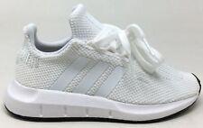 Adidas Unisex Niños Swift Run C Atlético Zapatillas Blanco/Negro Talla 1M US