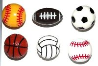 SPORT BALLS Push Pins Set of 6 Handmade Decorative Ball Toy Thumb Tacks SALE