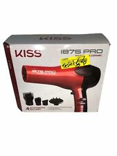 KISS I875 Pro Tourmaline Ceramic Blowdryer with Cool Shot Function 4 Attachments