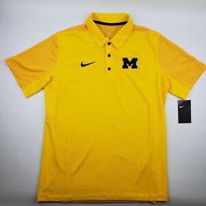 Michigan Wolverines Nike Team Polo Men's Size Medium Maize Yellow