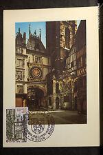 FRANCE ROUEN LE GROS HORLOGE Carte Postale Maximum Yt1875c