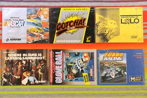 Nintendo NES Game Manual Lot Gotcha Carmen Sandiego Gloveball 6 Pieces