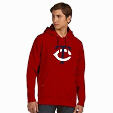 New Minnesota Twins Big Logo Signature Applique Hooded Sweatshirt Mens M