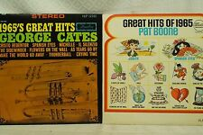 lot lp records Great Hits of 1965 Pat Boone 1965's George Cates spanish eyes