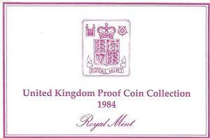 1984 Grande-Bretagne 8 Pièce de Monnaie 2 Page c. O. A.Document Kit