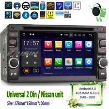 Nissan Android 8.0 2 DIN Car DVD Double SATNAV Radio DAB DVR Cam Dtv WiFi 7836g