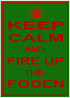 """FODEN (Steam / Diesel Traction Engine Lorry Wagon) """"KEEP CALM"""" METAL SIGN PLAQUE"""
