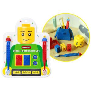 Oxford Brick Block ToothBrush Set for Kids Made in korea BPA FREE 3Y +