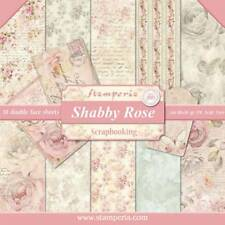 """NEW Stamperia 12"""" x 12"""" Paper Sheets Shabby Rose"""