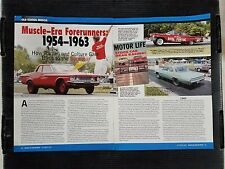 Muscle-Era Frontrunners 1954-1963 Birth of the Supercar 8 Page Article  Free S&H