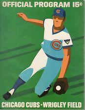 1972 (Aug.12) Baseball program New York Mets @ Chicago Cubs, scored~ VG